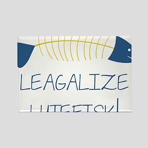 Legalize Lutefisk Fish Rectangle Magnet