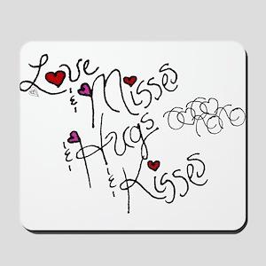 Love & Misses & Hugs & Kisses Mousepad