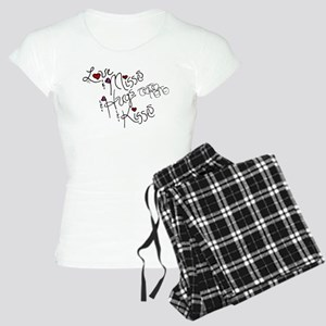 Love & Misses & Hugs & Kisses Women's Light Pajama