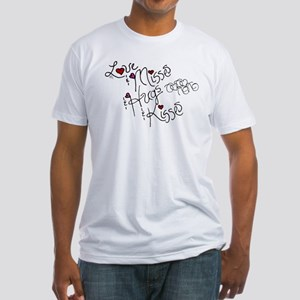 Love & Misses & Hugs & Kisses Fitted T-Shirt