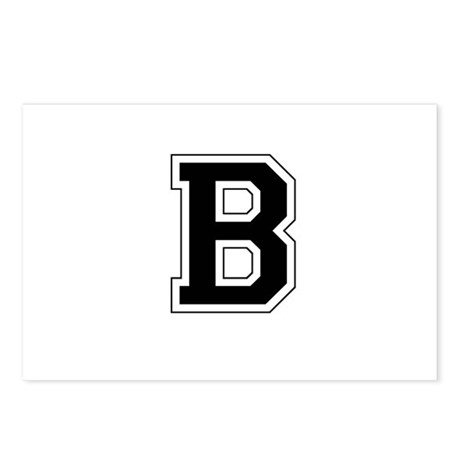 Collegiate Monogram B Postcards (Package of 8)