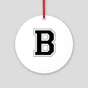 Collegiate Monogram B Ornament (Round)