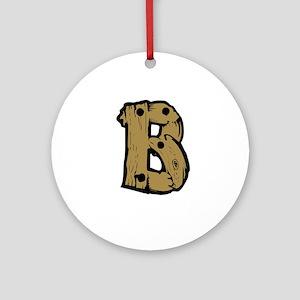 Drift Wood Monogram B Ornament (Round)