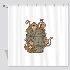 Barrel Of Monkeys Shower Curtain