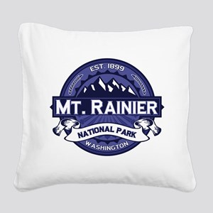 Mt. Rainier Midnight Square Canvas Pillow