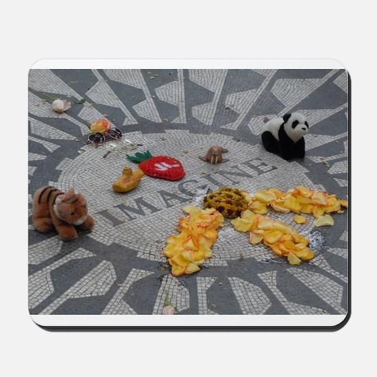 Imagine Strawberry Fields NYC Mousepad