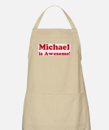 Michael is Awesome BBQ Apron
