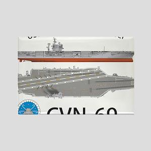 USS Eisenhower CVN-69 Rectangle Magnet