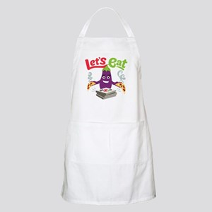 Emoji Eggplant Let's Eat Light Apron