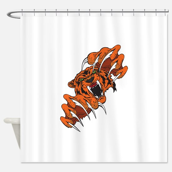 clawing cougar.png Shower Curtain