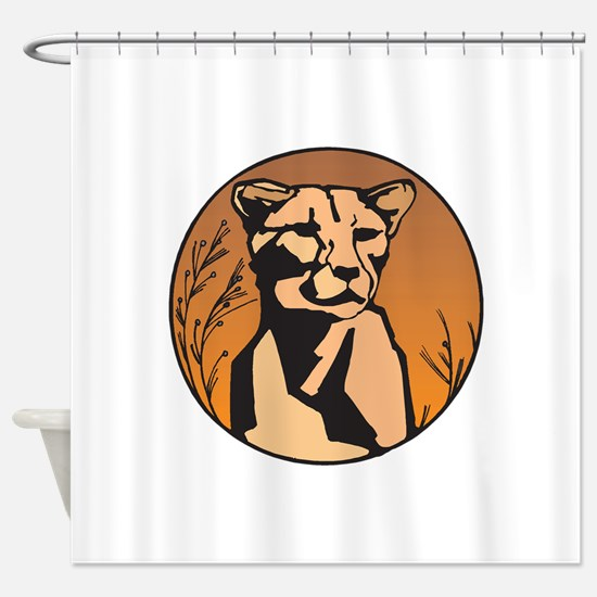mountain_lion_101343.png Shower Curtain