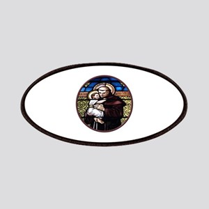 ST. ANTHONY OF PADUA STAINED GLASS WINDOW Patches