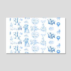 Aqua blue white renewal toile Wall Decal