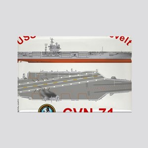 USS George Washington CVN-73 Rectangle Magnet