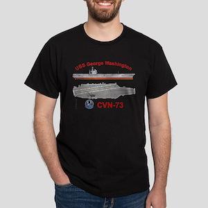 USS George Washington CVN-73 Dark T-Shirt