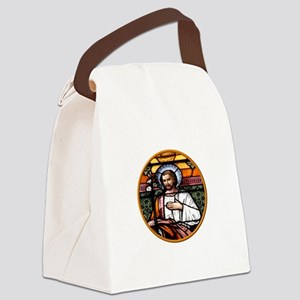 ST. JOSEPH STAINED GLASS WINDOW Canvas Lunch Bag