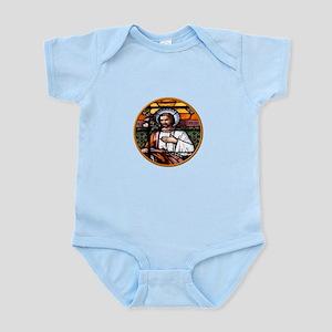 ST. JOSEPH STAINED GLASS WINDOW Infant Bodysuit