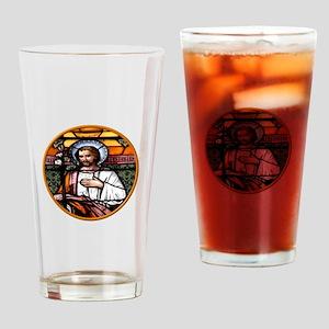 ST. JOSEPH STAINED GLASS WINDOW Drinking Glass
