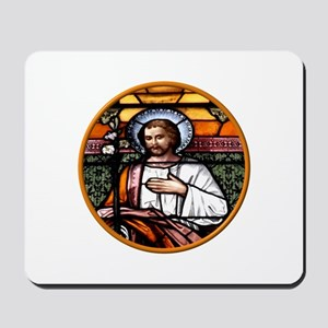 ST. JOSEPH STAINED GLASS WINDOW Mousepad