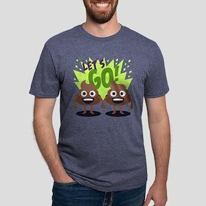 Emoji Poop Let's Go Mens Tri-blend T-Shirt