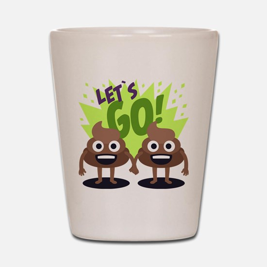 Emoji Poop Let's Go Shot Glass