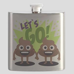 Emoji Poop Let's Go Flask