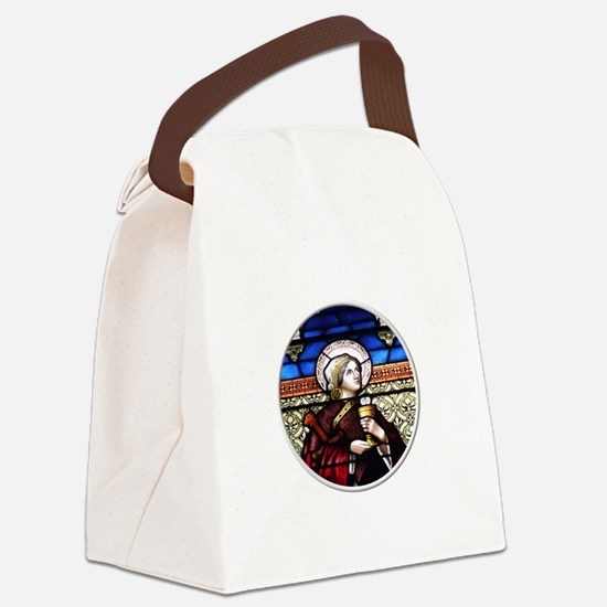 ST. BARBARA STAINED GLASS WINDOW Canvas Lunch Bag