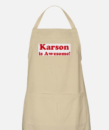 Karson is Awesome BBQ Apron