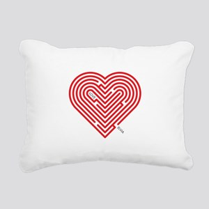 I Love Elvia Rectangular Canvas Pillow