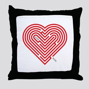 I Love Elvia Throw Pillow
