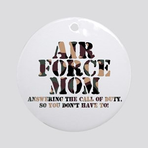 AF Mom Answering the Call Ornament (Round)