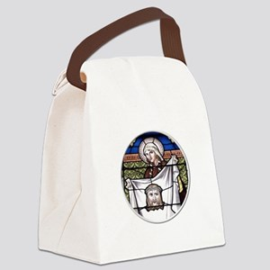 St. Veronica Stained Glass Window Canvas Lunch Bag