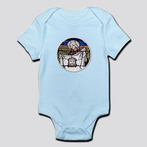 St. Veronica Stained Glass Window Infant Bodysuit