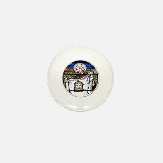 St. Veronica Stained Glass Window Mini Button