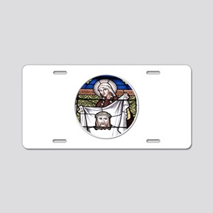 St. Veronica Stained Glass Window Aluminum License
