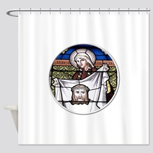 St. Veronica Stained Glass Window Shower Curtain