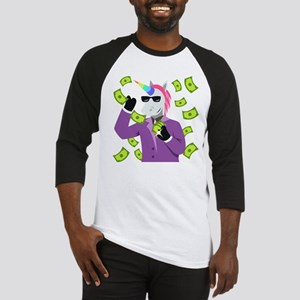 Emoji Unicorn Like A Boss Baseball Tee