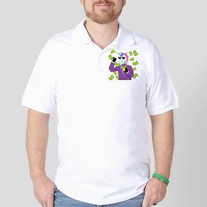 Emoji Unicorn Like A Boss Polo Shirt
