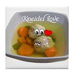 Kneidel Love Tile Coaster