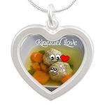Kneidel Love Silver Heart Necklace