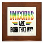Unicorns Are Born That Way Framed Tile