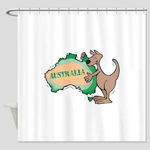 kanga hugging australia Shower Curtain