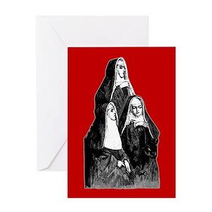 Funny nuns greeting cards cafepress m4hsunfo