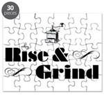 Rise And Grind Coffee Shirt Puzzle