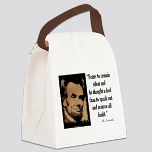 Remain Silent Canvas Lunch Bag