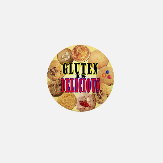 Gluten is Delicious Mini Button