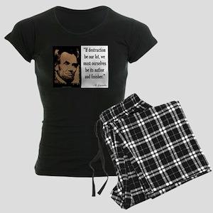 If Destruction Be Our Lot Women's Dark Pajamas