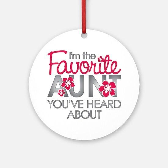Favorite Aunt Ornament (Round)