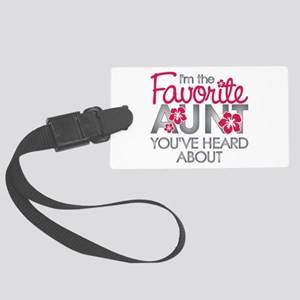 Favorite Aunt Large Luggage Tag