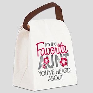 Favorite Aunt Canvas Lunch Bag